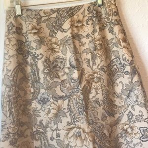 Vintage Talbots Aline wool floral skirt